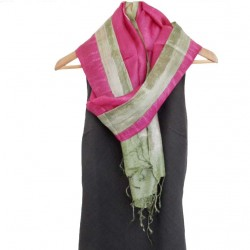 100% row silk scarf. Hand painted.