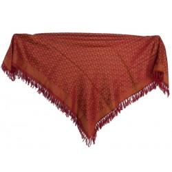 "100% Silk. Shawl. 110x110 cm (43""x 43"")."