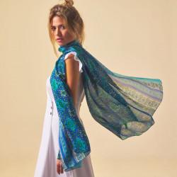 Silk Scarf. Printed silk.180x110cm