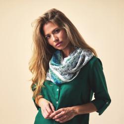 Silk scarf. Printed silk. 180x110cm