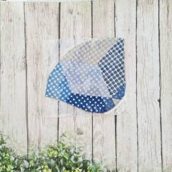 Silk mask Marine blue reusable hygienic mask